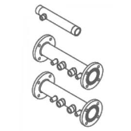 Комплект труб подачи и обратки с газовой трубой для одного котла Baxi (7105775)